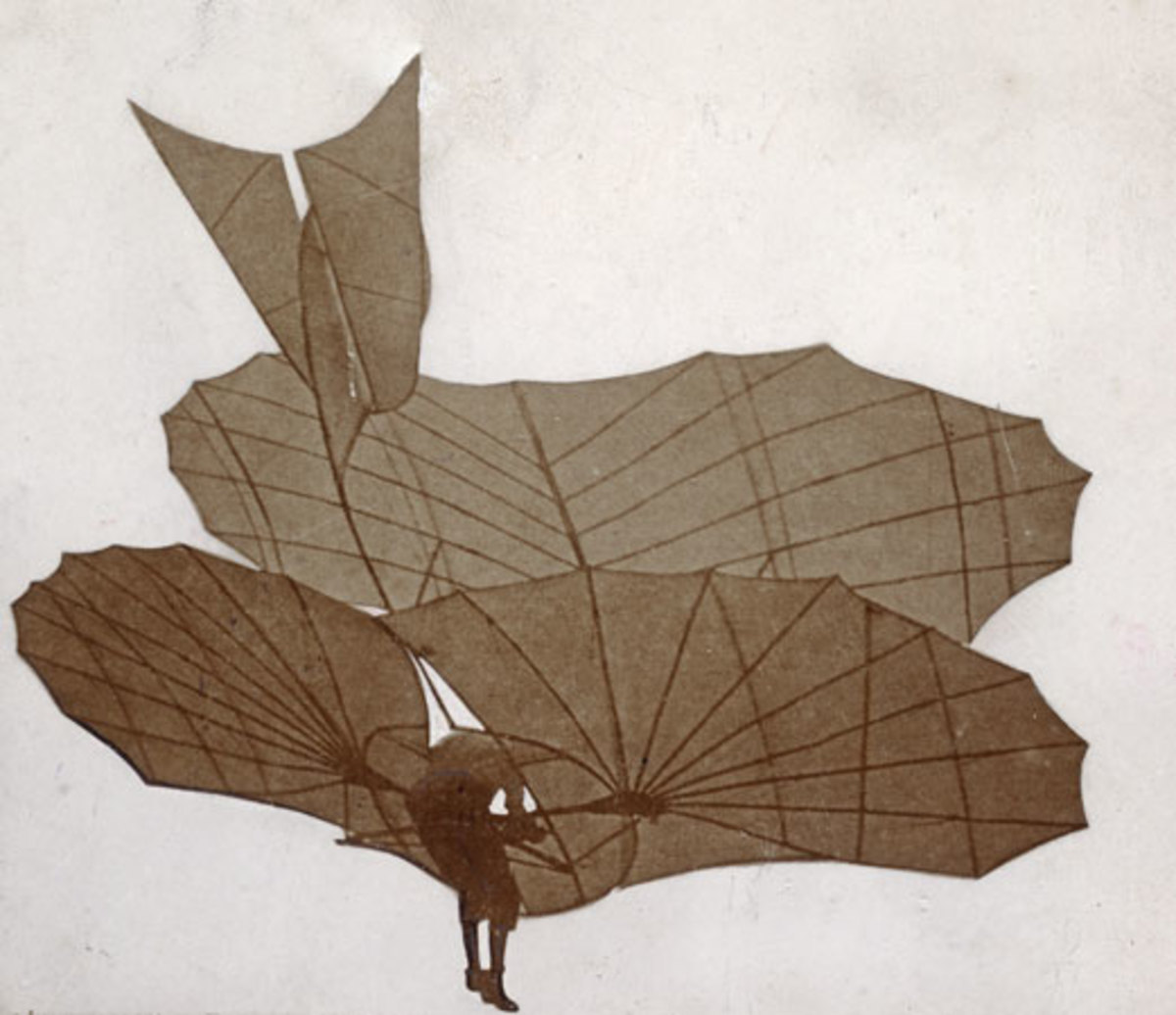 Lilienthal glider German aviation pioneer Otto Lilienthal piloting one of his gliders, c. 1895
