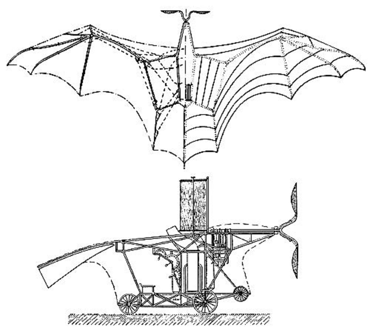 Patent Drawings of The Ader Eole