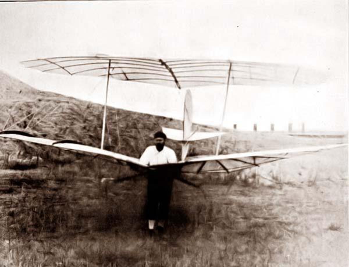 Otto Lilienthal glider, 1895