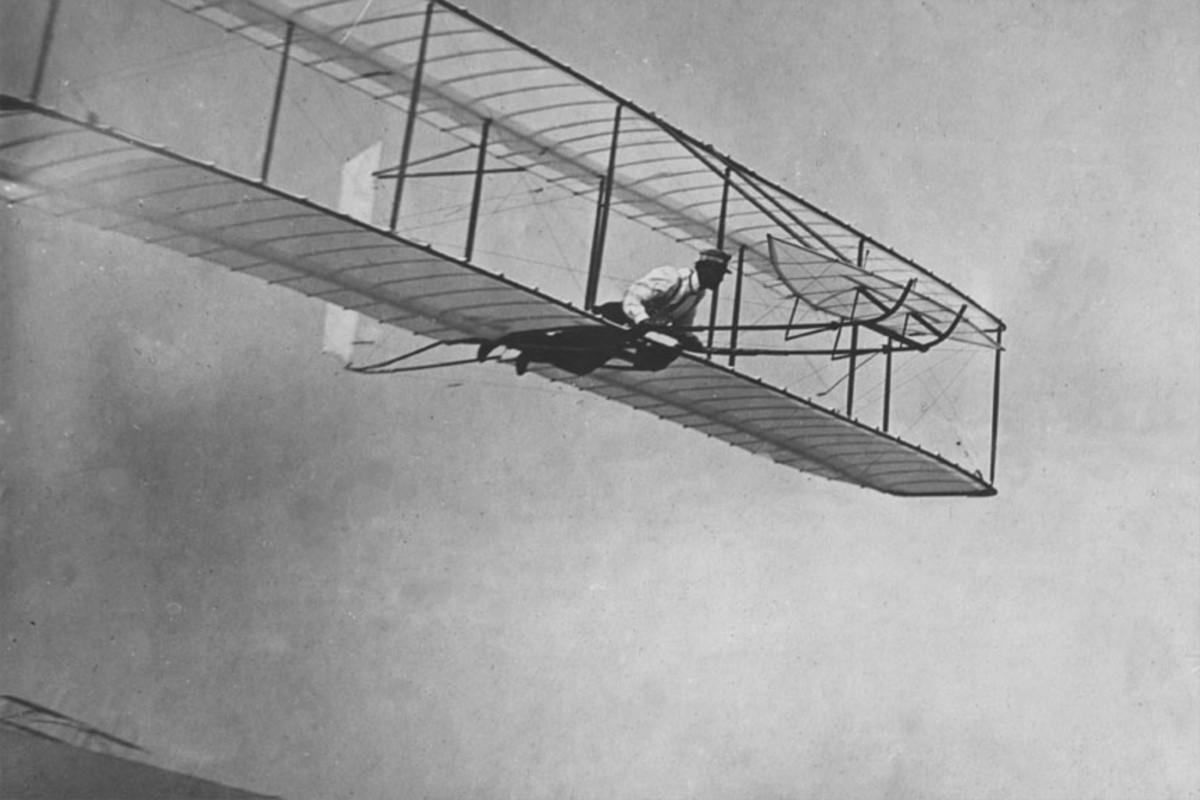 Demonstration by the Wright brothers