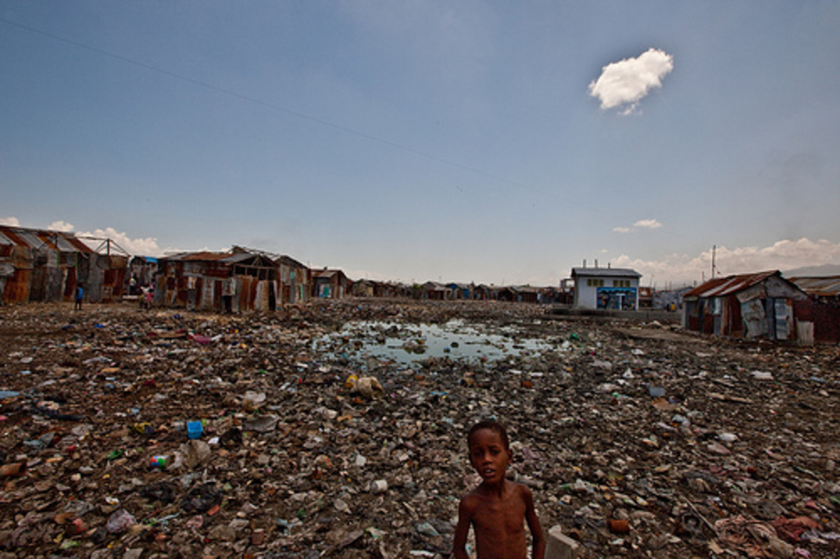 Coda: In Haiti - in Port-au-Prince twice in 2009…. Even then, before the earthquake, Port-au-Prince was an unbelievable mess.  Practically no infrastructure worth talking about.  In many (most?) parts of the city, there was no electricity.  So as nig