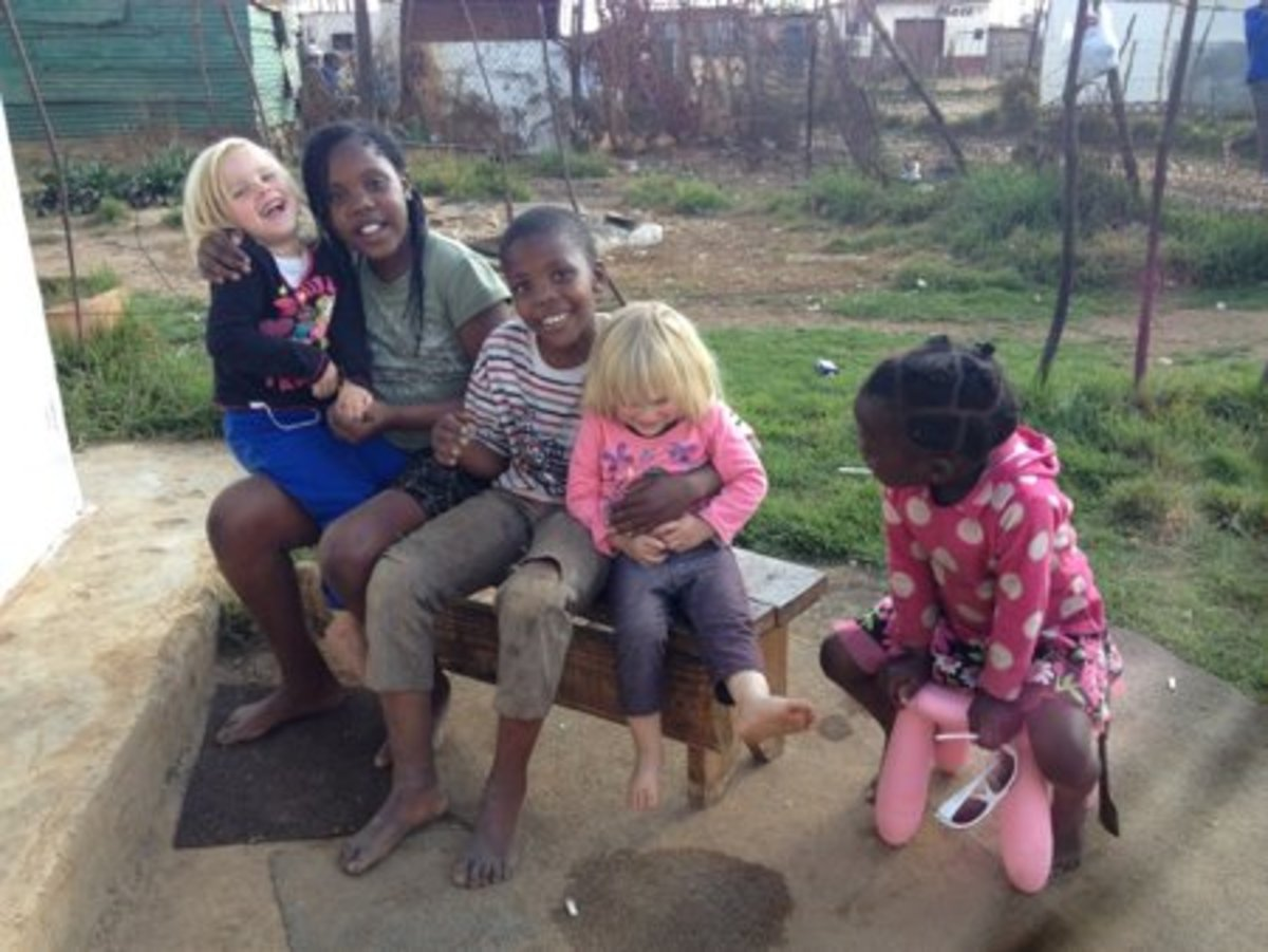 The Hewitt girls and their friends in Mamelodi, Pretoria(Tshwane) in South Africa