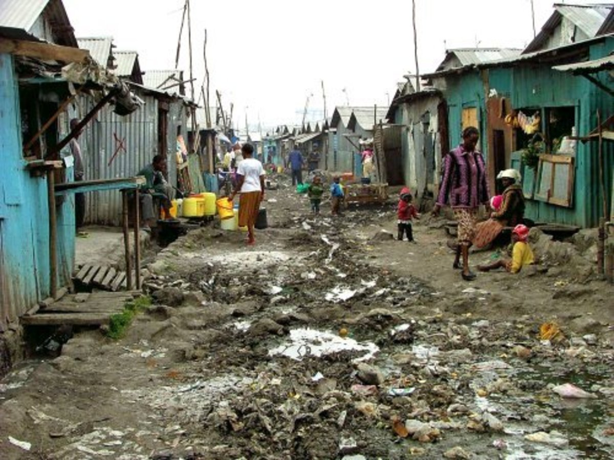 The World is a Ghetto: Global Slums - Out of Sight and out of Mind: Deterioration of the Human Condition.
