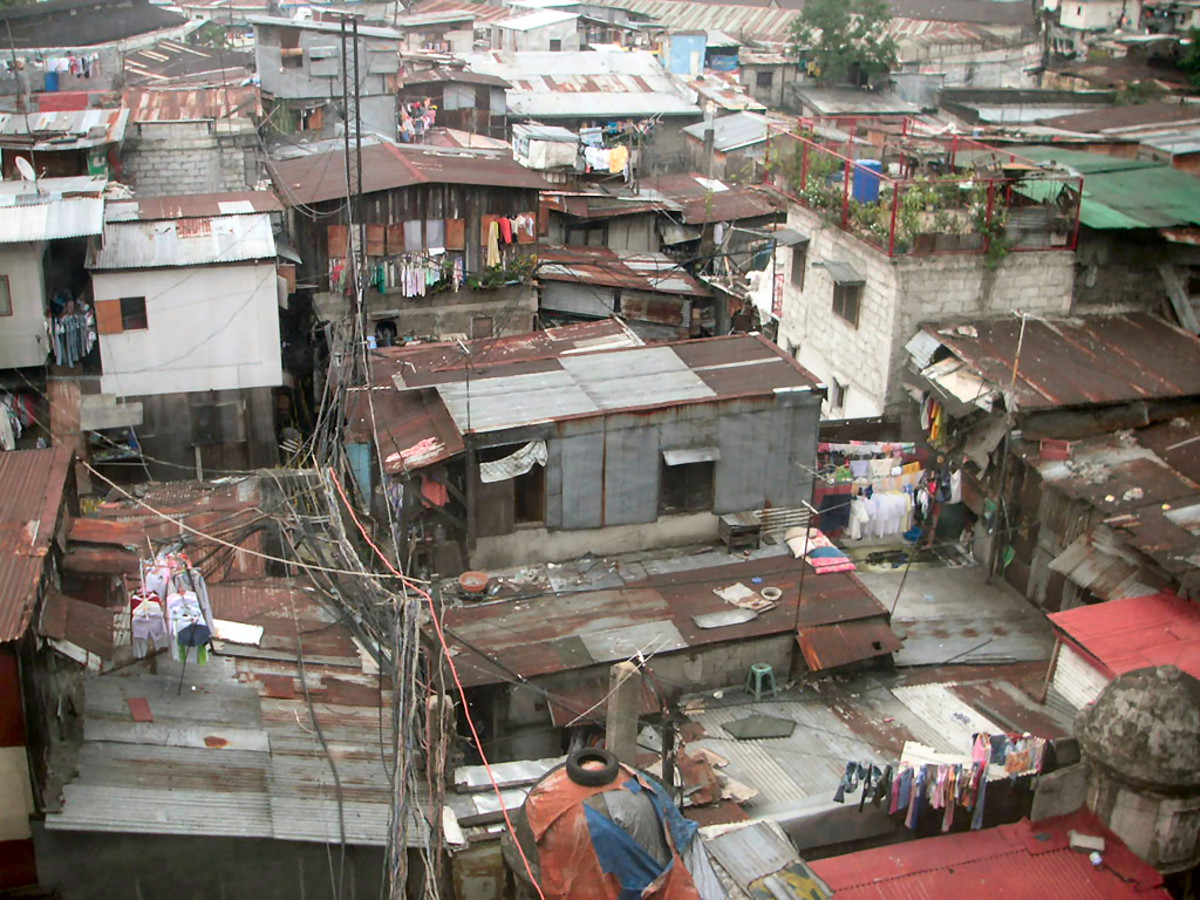 Manila Slum in the Philippines