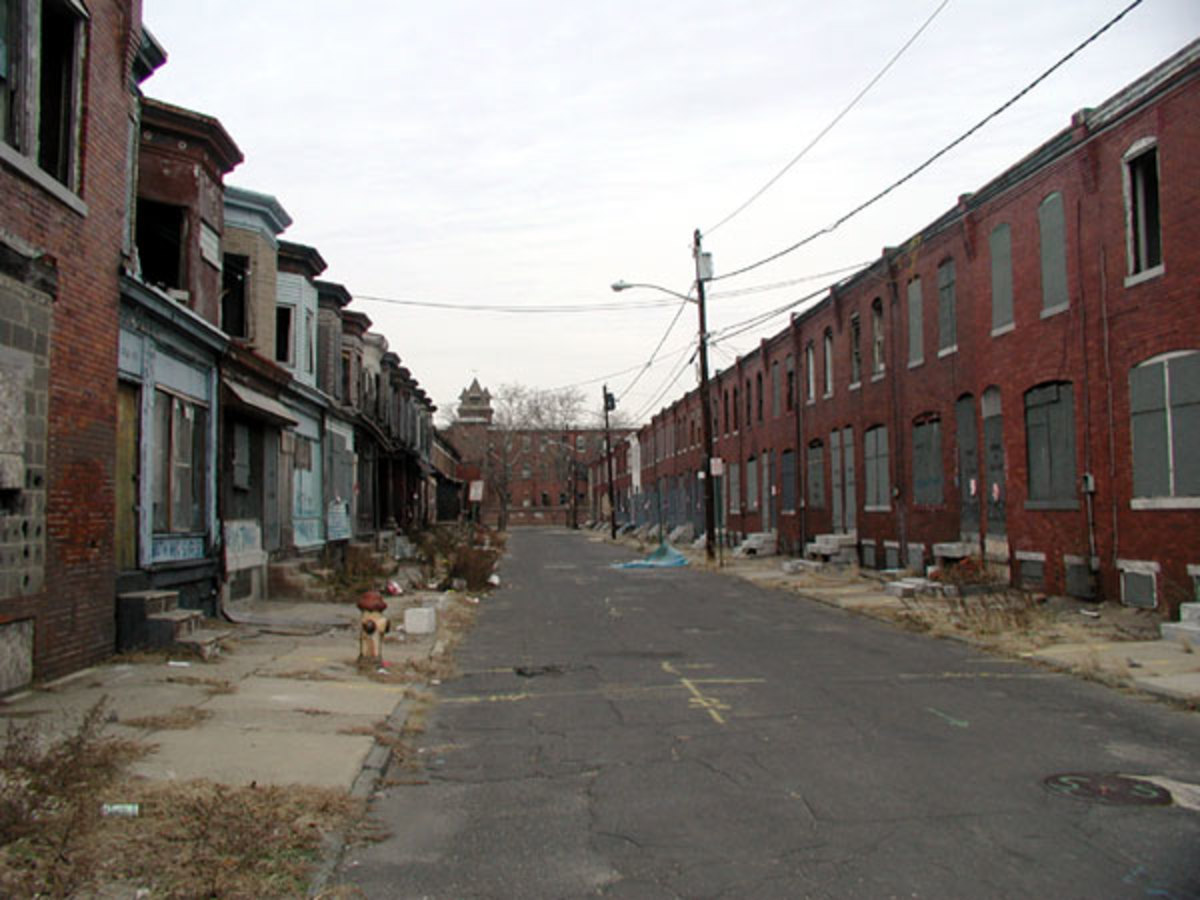 Camden New Jersey, USA; A serious scene of Urban Decay still going on today