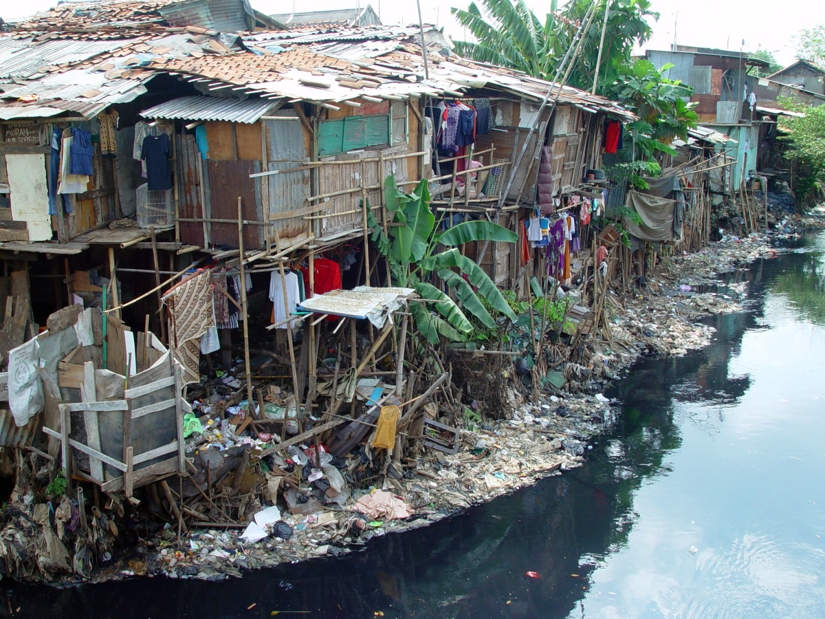 The slums in Jakarta