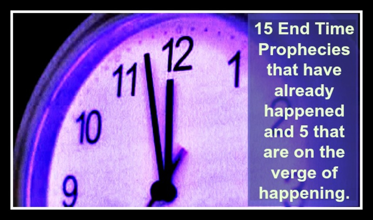 15 End Time Prophecies that have already  happened and 5 that are on the verge of happening.
