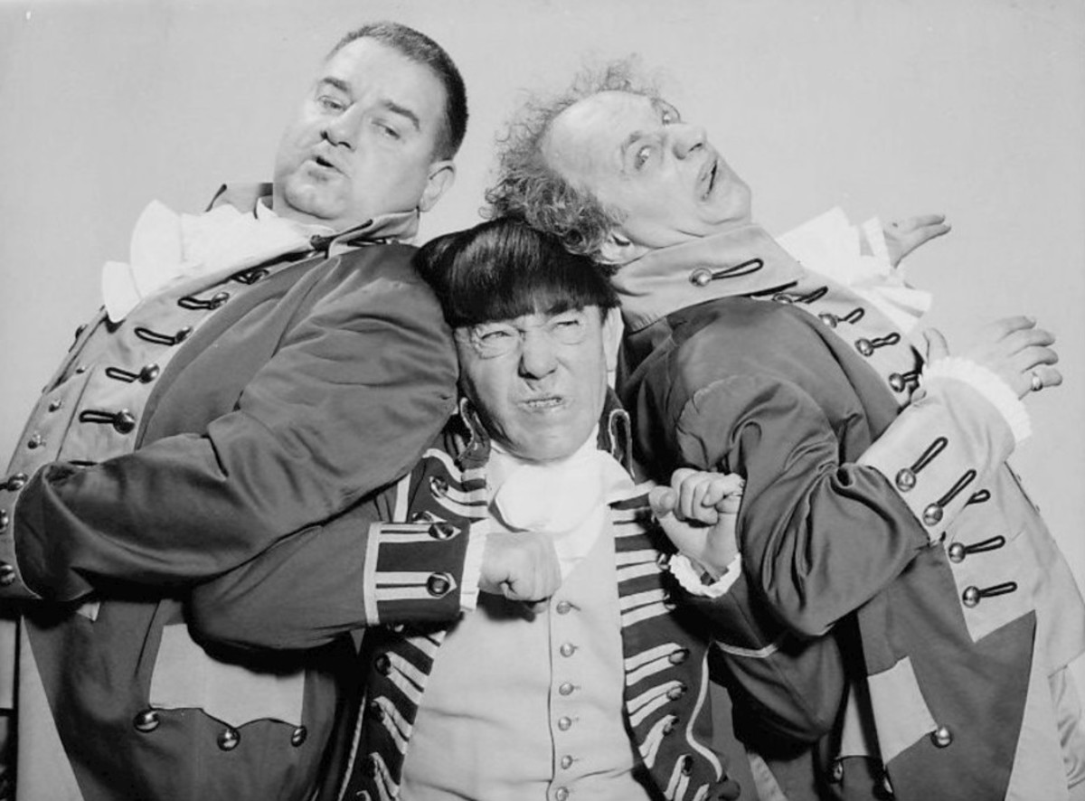 Curley-Joe  DeRita (left) the last Stooge to pass on