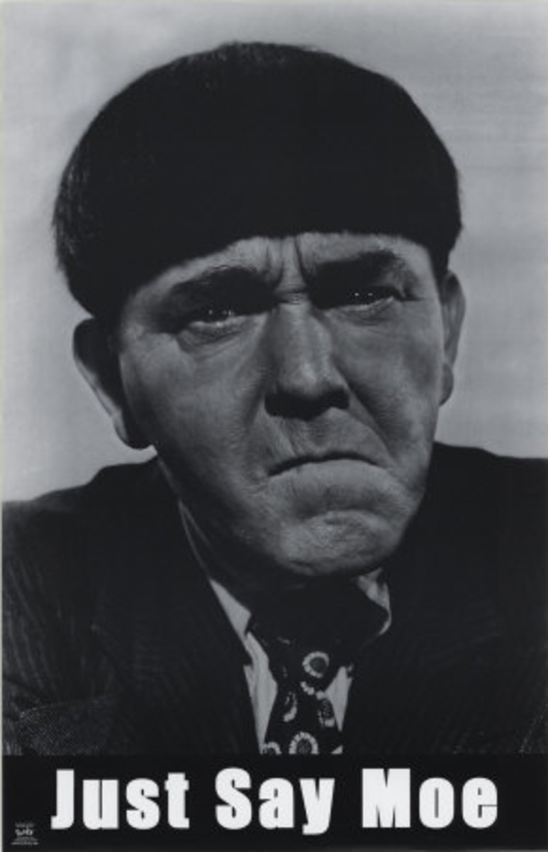 Moe Howard, ready to slap ya head.