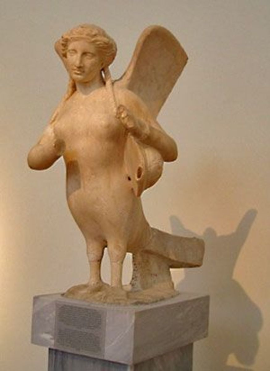 Hellenistic funerary sculpture of a Siren, 4th century BCE. I love her face.