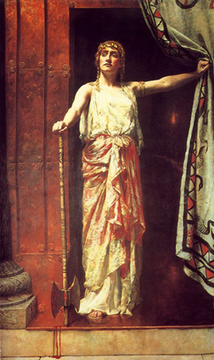 """Clytemnestra after the murder"""