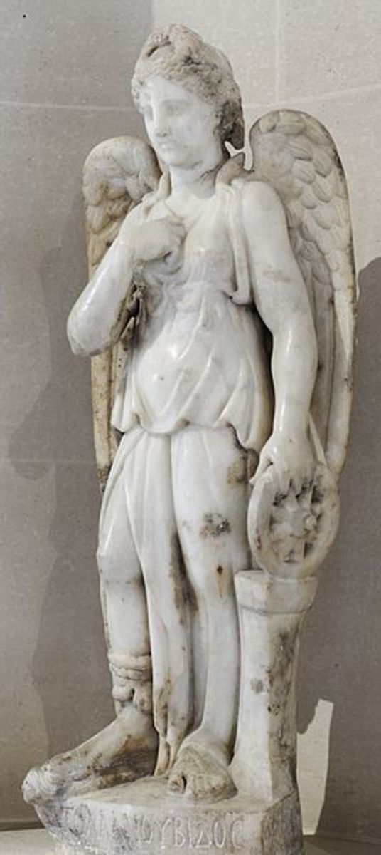 Nemesis, statue in Louvre