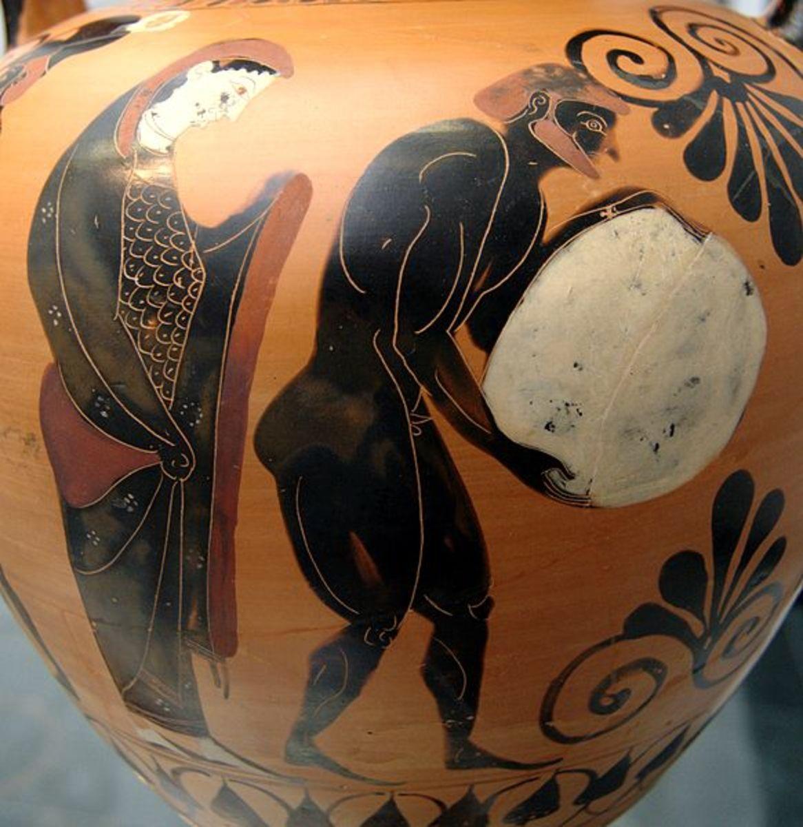 Persephone Supervising Sisyphus' Punishment