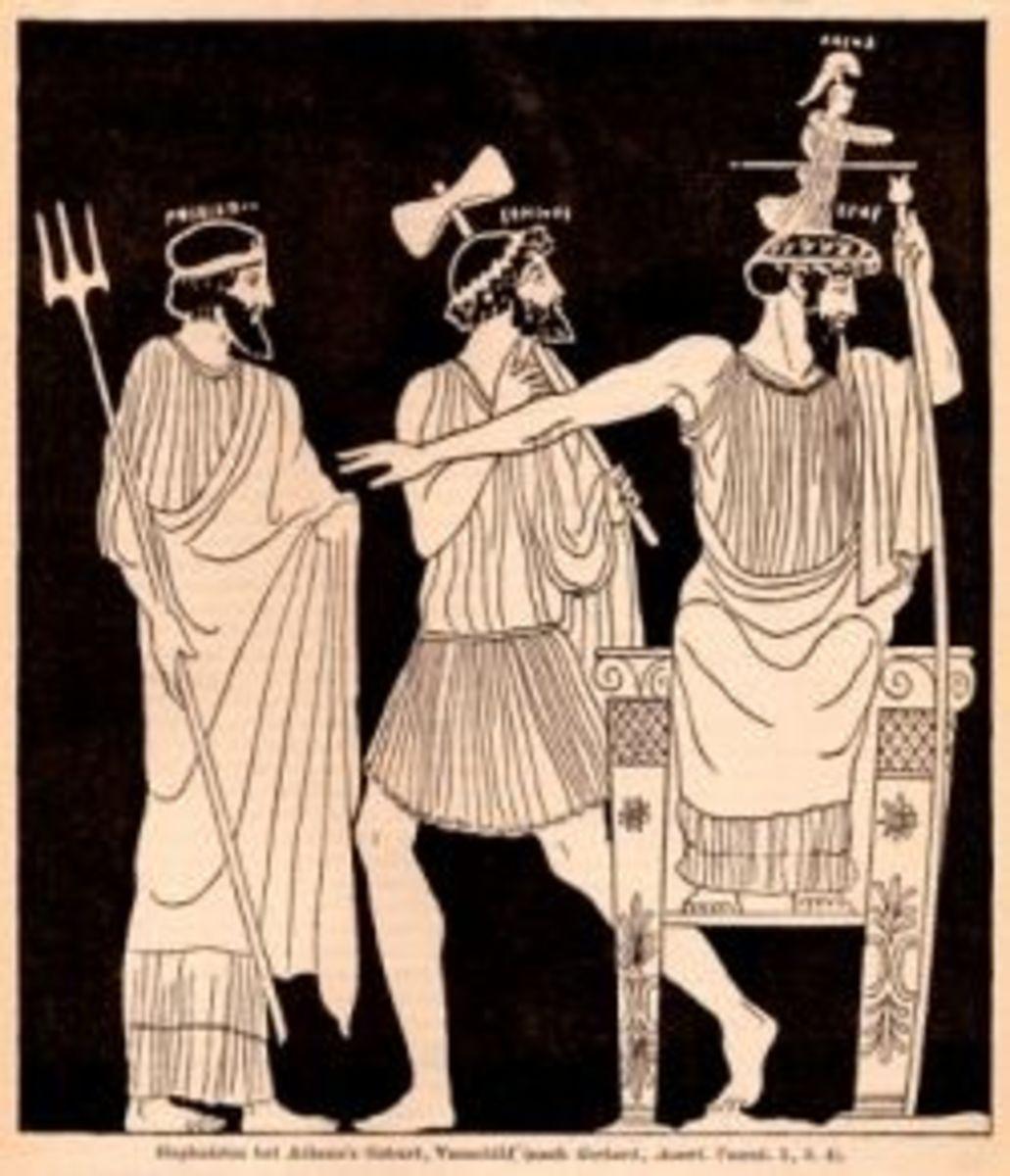Birth of Athena - Greek Vase Painting