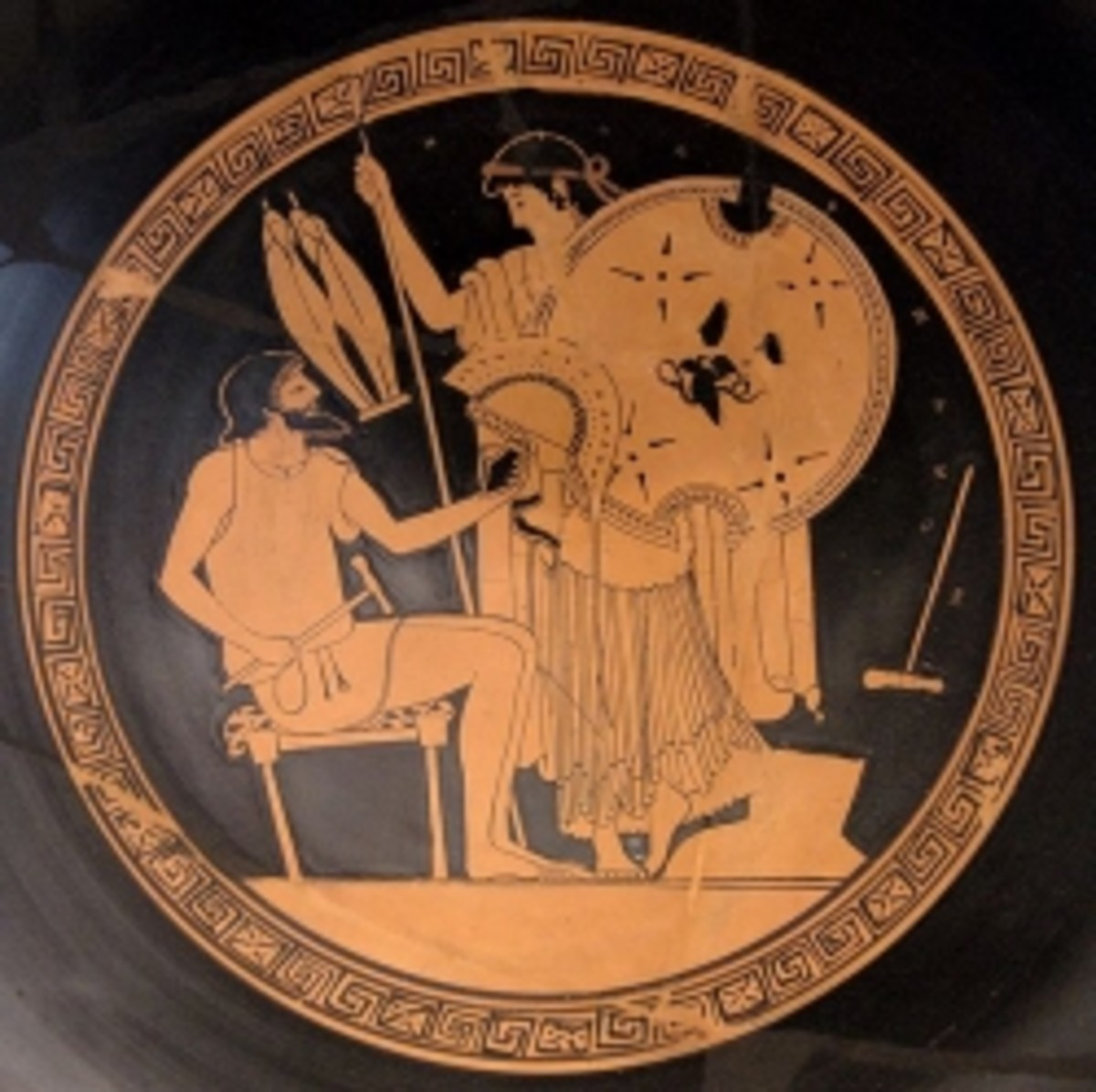 Thetis picks up new armor for her son Achilles (scene from the Iliad)