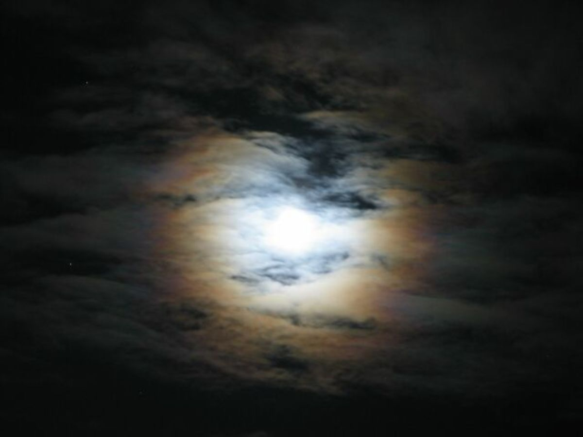 A ring around the sun and moon: a rainy day is coming soon