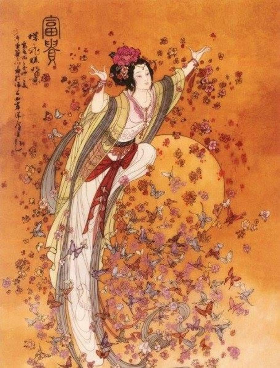 Konohanasakuya-hime, blossom-princess and symbol of delicate earthly life