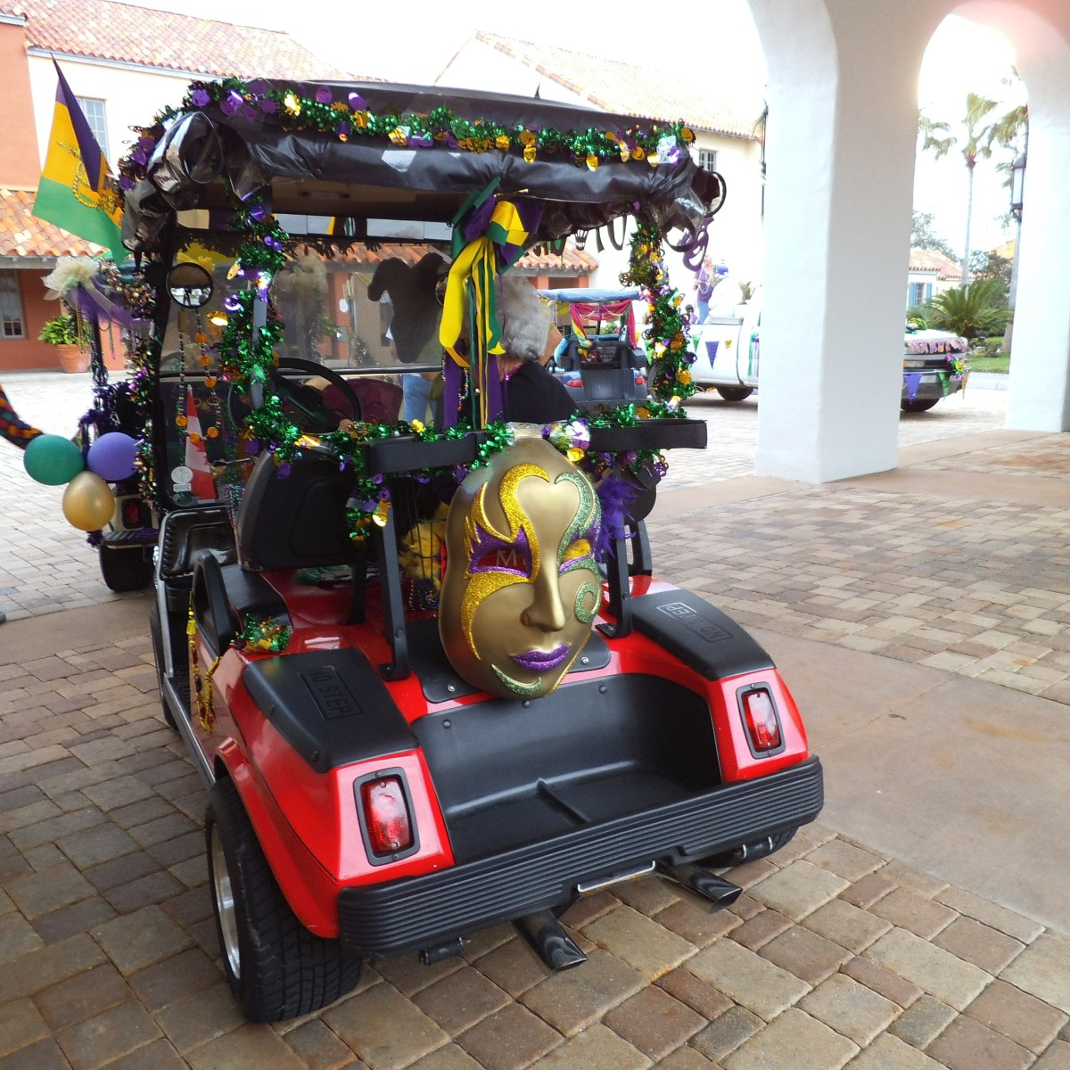 Every year, the retirement community that I live in has a Mardi Gras golf cart parade.