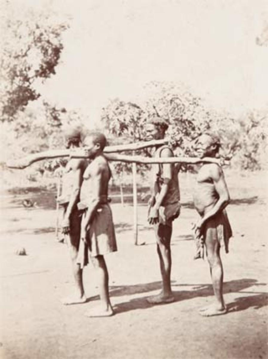 Slaves taken to the fork