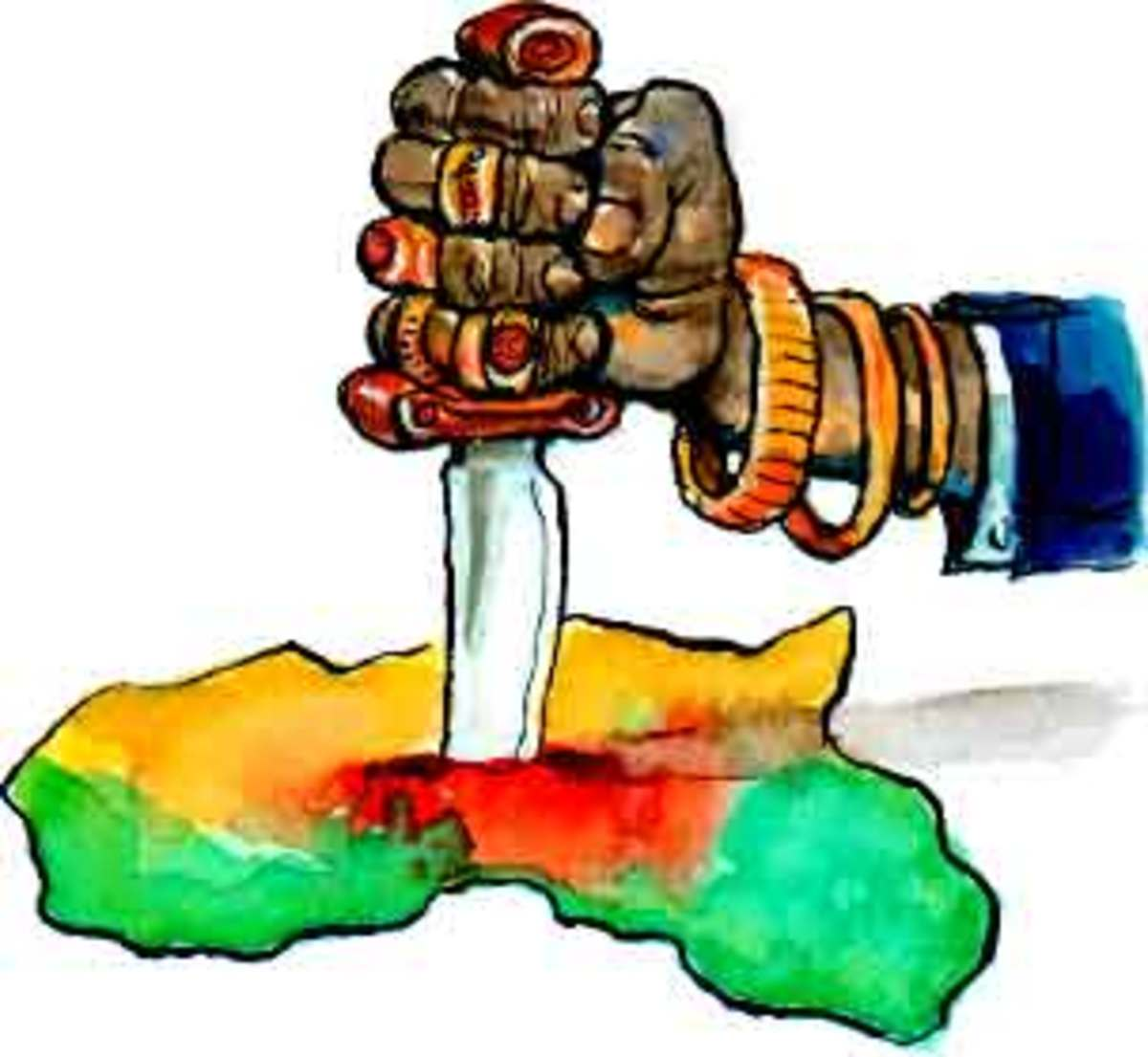 The carving and decapitation of Africa by the indigenous elite and capitalists