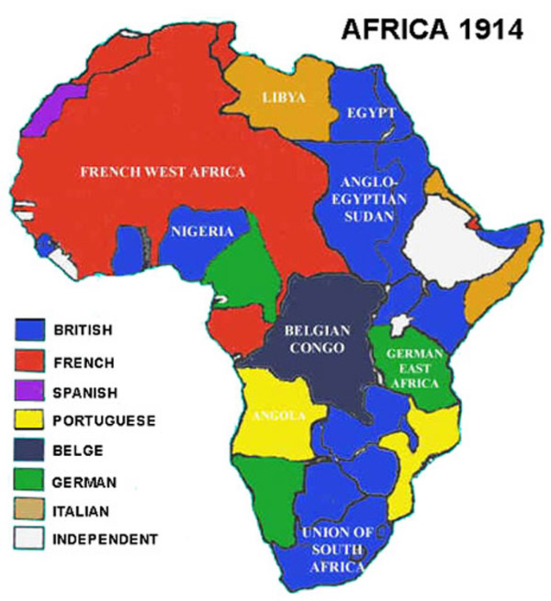 Carving up of Africa by the Europeans