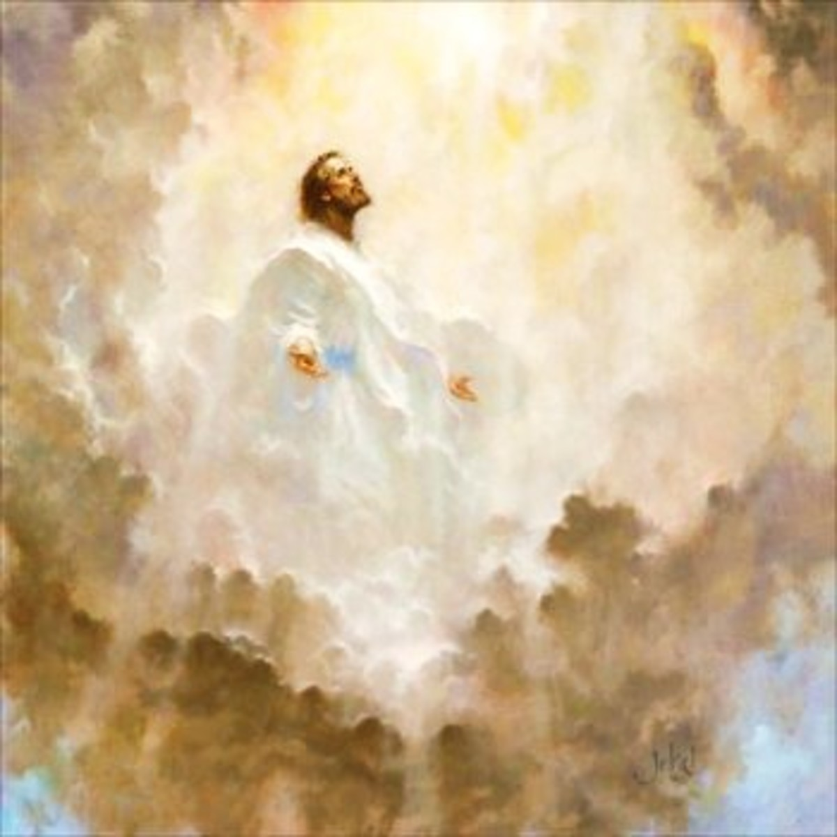 Artistic Rendering of Jesus Christ in the Clouds