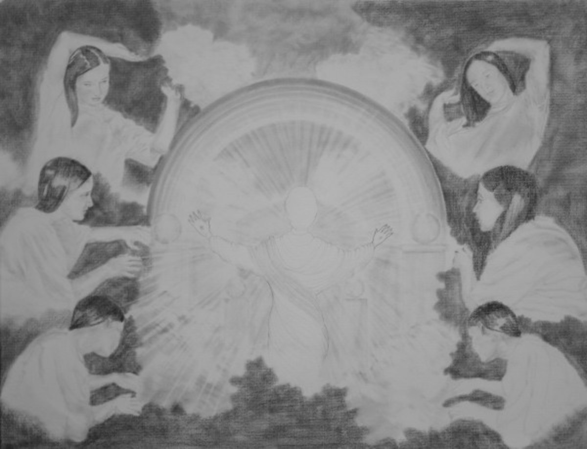 Rendering of Vision of Jesus in the Clouds