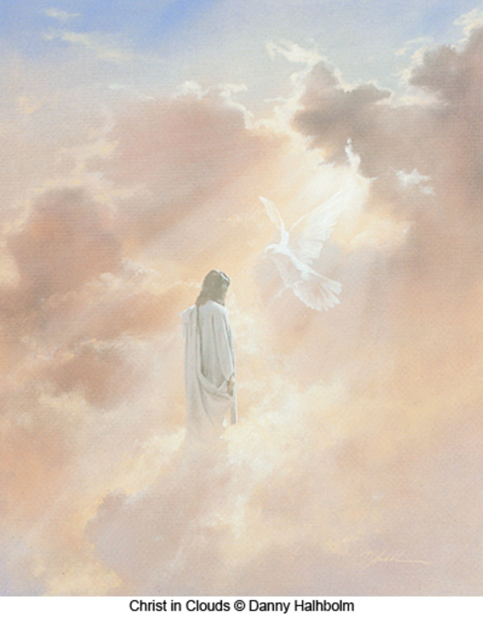 Artistic Rendering of Jesus in the Clouds - Christ in Clouds by Danny Halhbolm