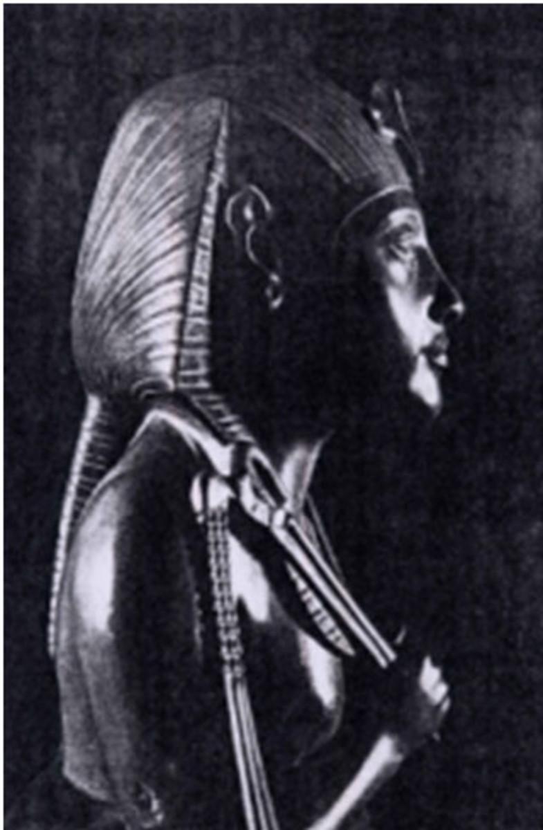 Image of Akhenated in a ponytail (Kurt Lange 1968)