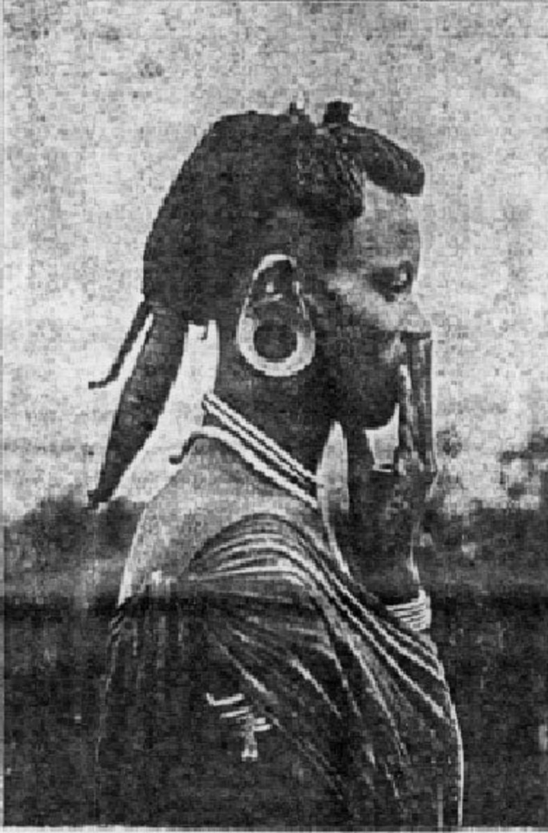 Kikuyu male in a pony tail (Routledge 1910)