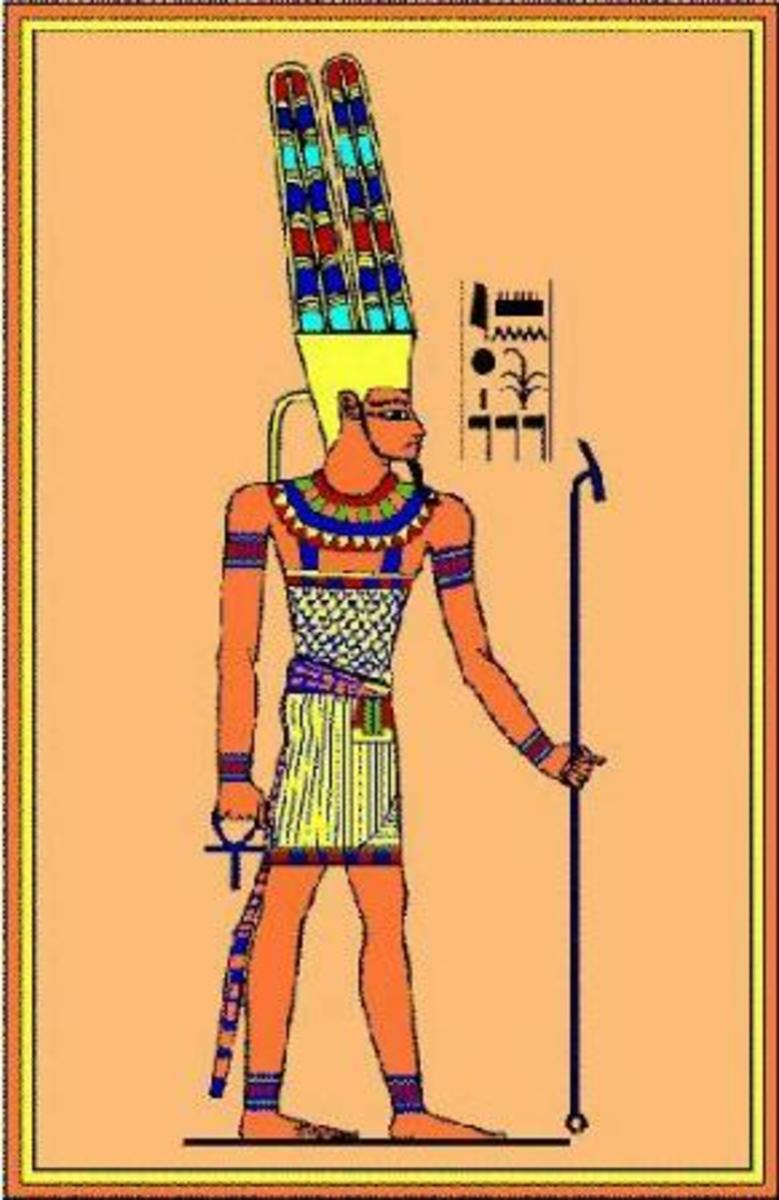 "Amoun also known as Amon, Ammon, Amun and Amen. Egytian God known as 'king of the gods"" and ""Lord of Heaven,"" Nome God of Thebes and father of Khonsu. The Romans identified him with Jupiter"
