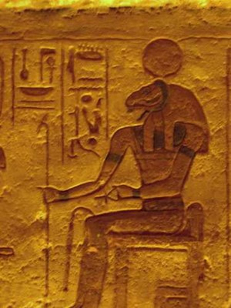 Picture of Amen Ra at Abu Simbel