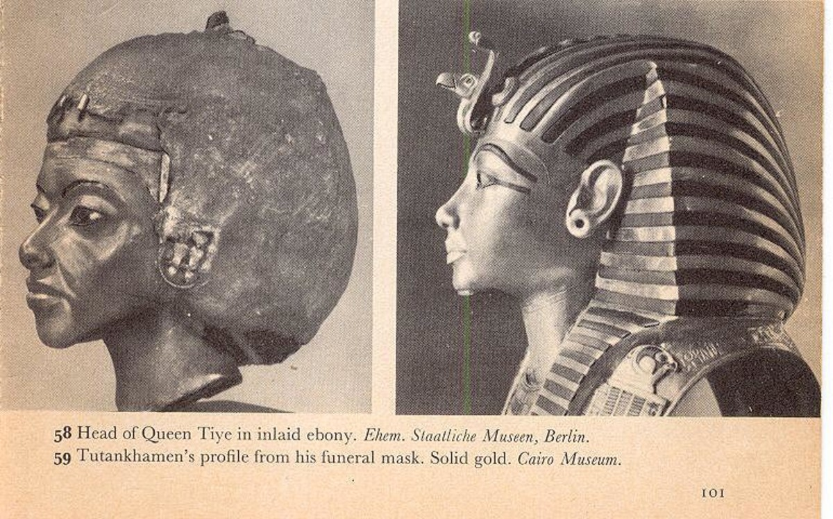 Queen Tiye and Tutankhamen's profile