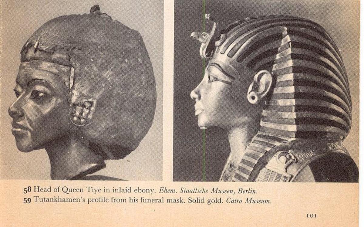 Queen Tiye and Tutankhamen's profile