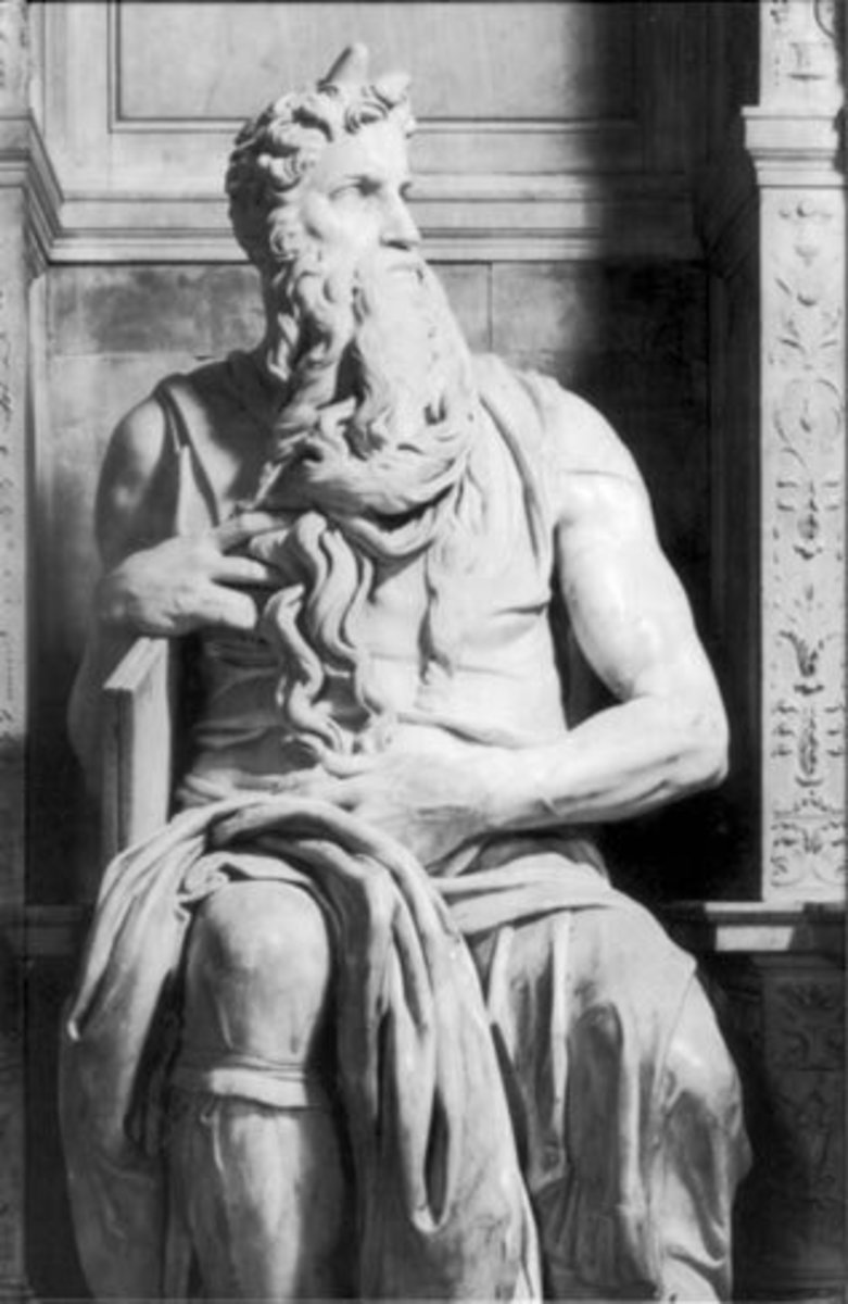 Moses from the Tomb of Julius II. San Pietro in Vincoli, rome. Italy