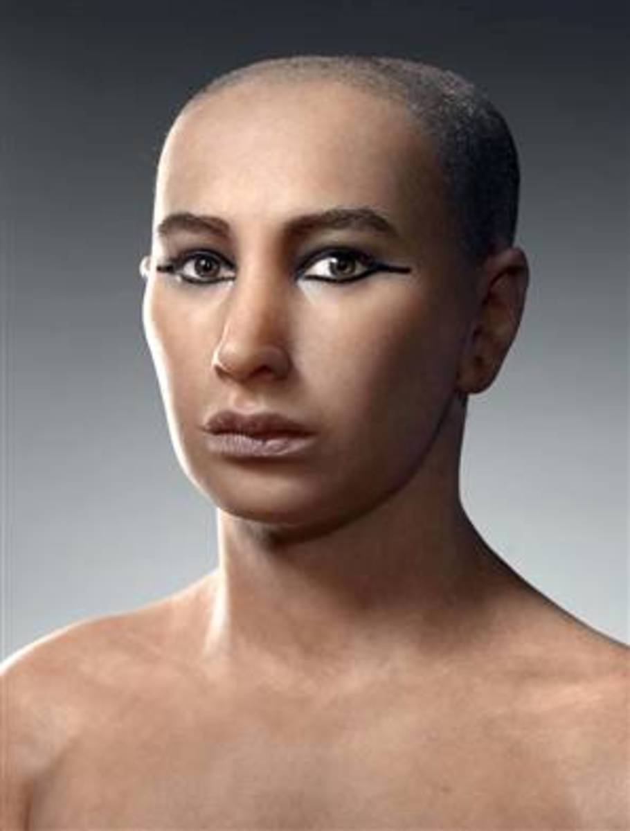 A Ramake of Tutankhamun as to how he might have looked like as a person