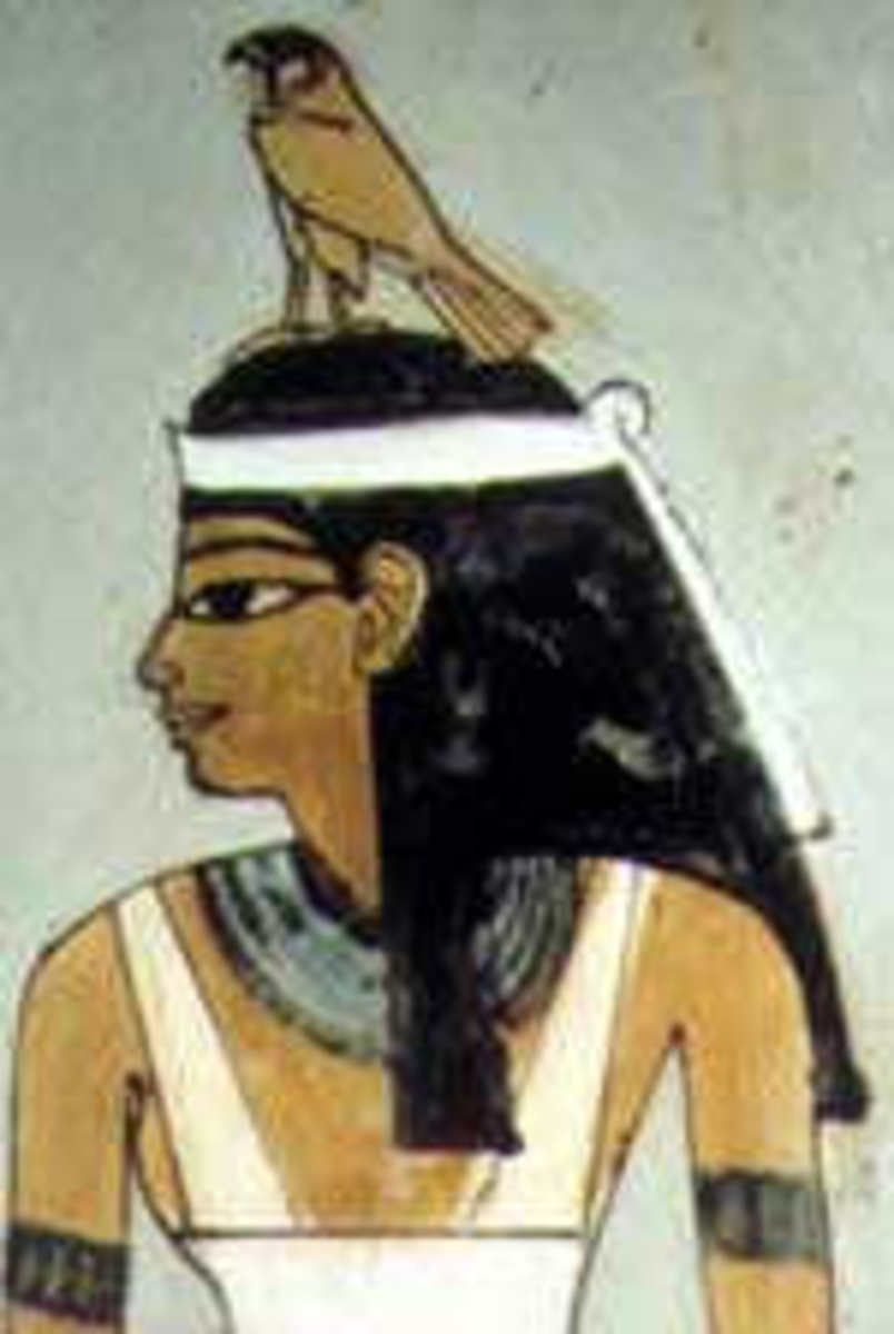 Amunet, (also spelled Amomet, Amaunet, Amentet, Amentit, Imentet, Imentit, and Ament) the female form of the originally androgynous god, Amun., was the deificiation of the primodial concept of Air, in the Ogdoad cosmogony