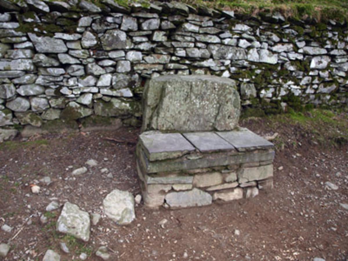 """A """"coffin stone"""" ."""