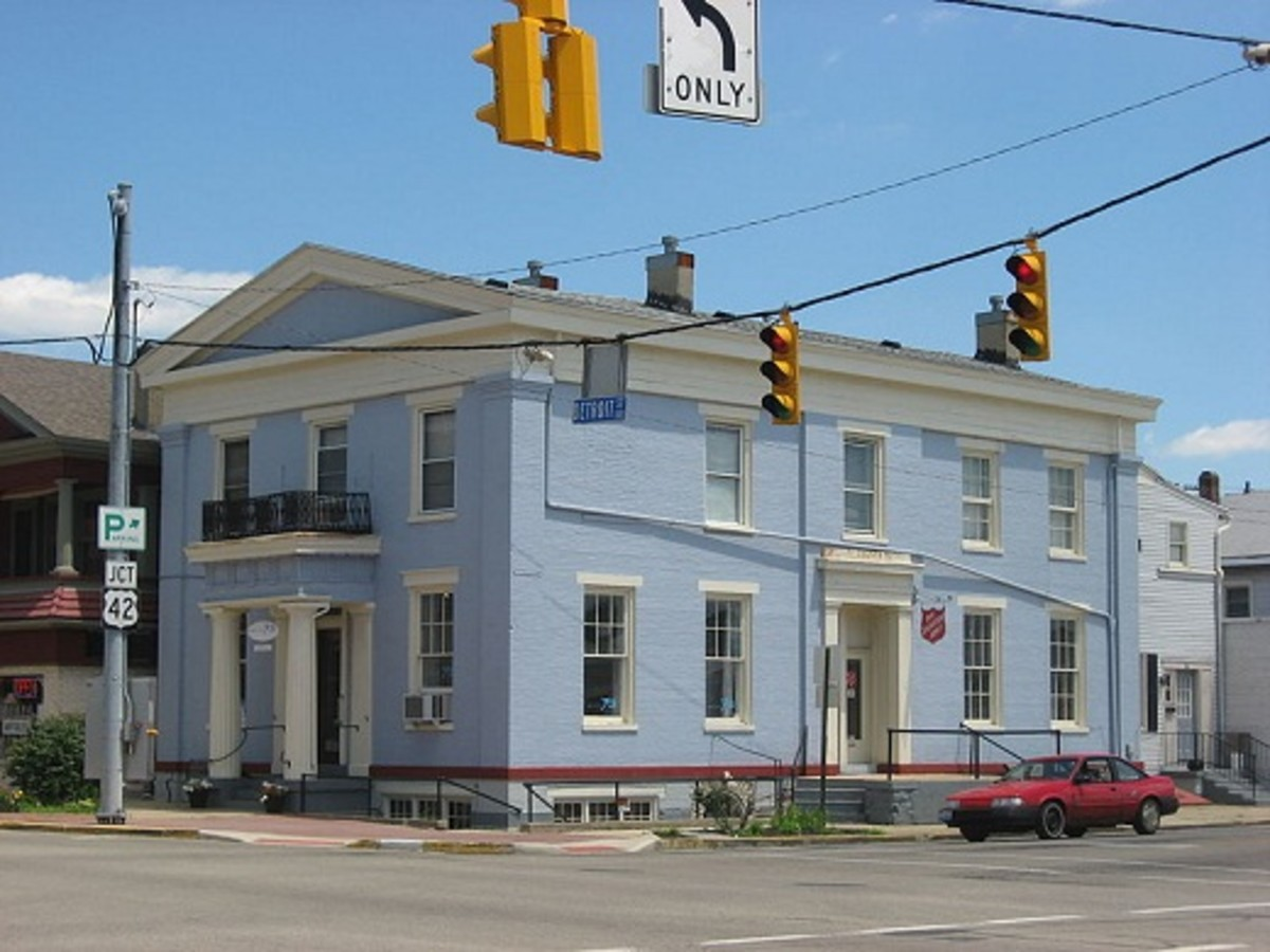 The former Bank of Xenia, in Helen Hooven Santmyer's hometown. the model for Waynesboro. The bank dates from 1835 and is on the National Register of Historic Places.