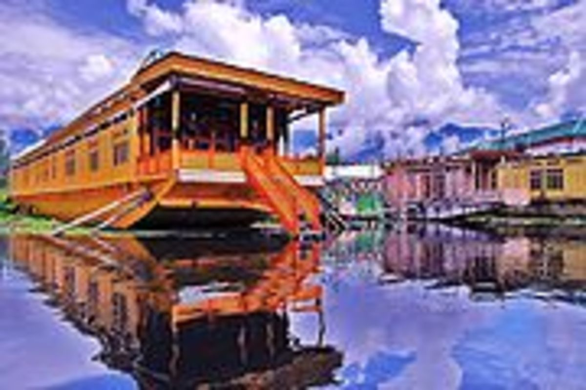Dal Lake houseboat, Srinigar