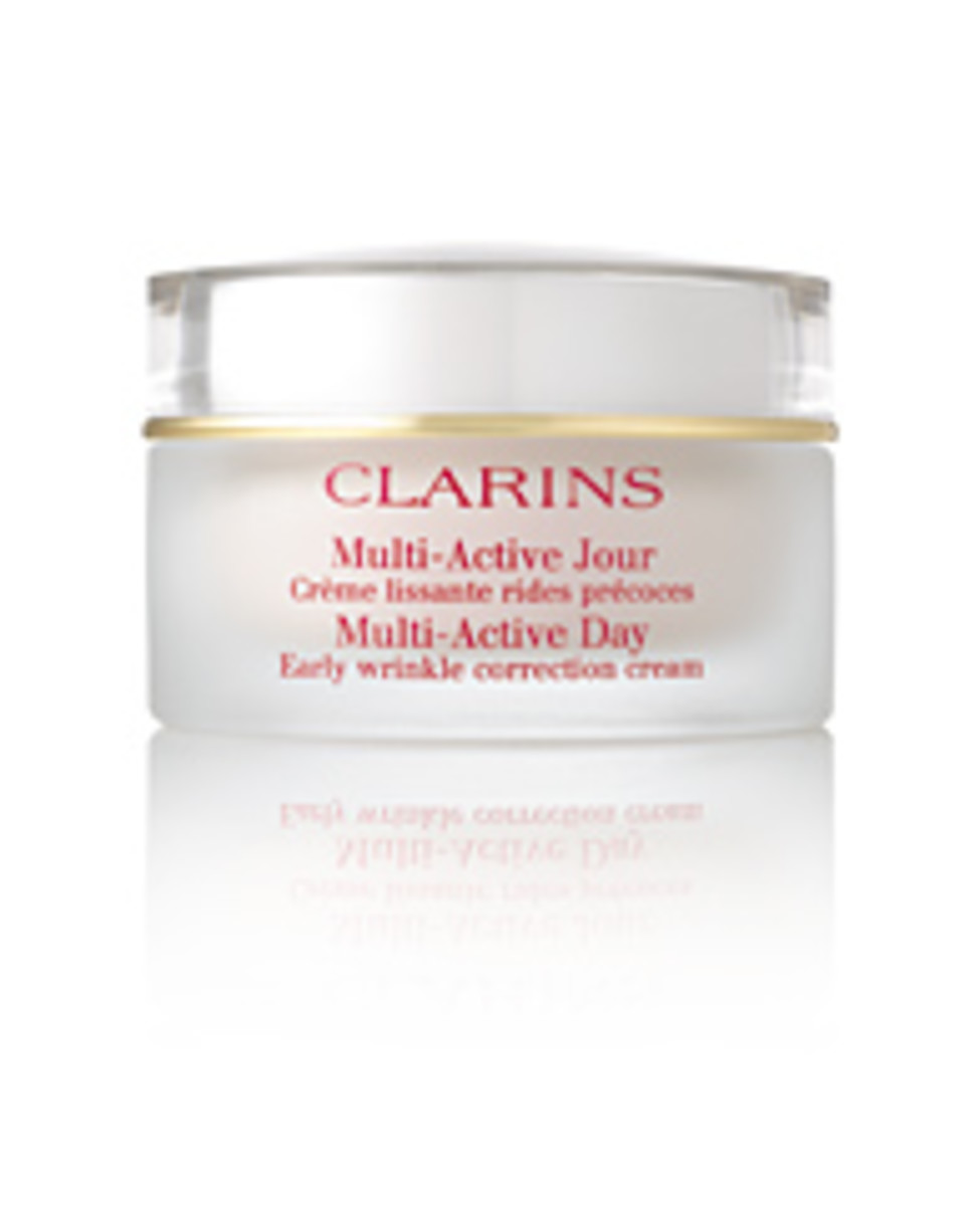 Clarins Multi-Active Day Early Wrinkle Correction Cream (all skin types) .