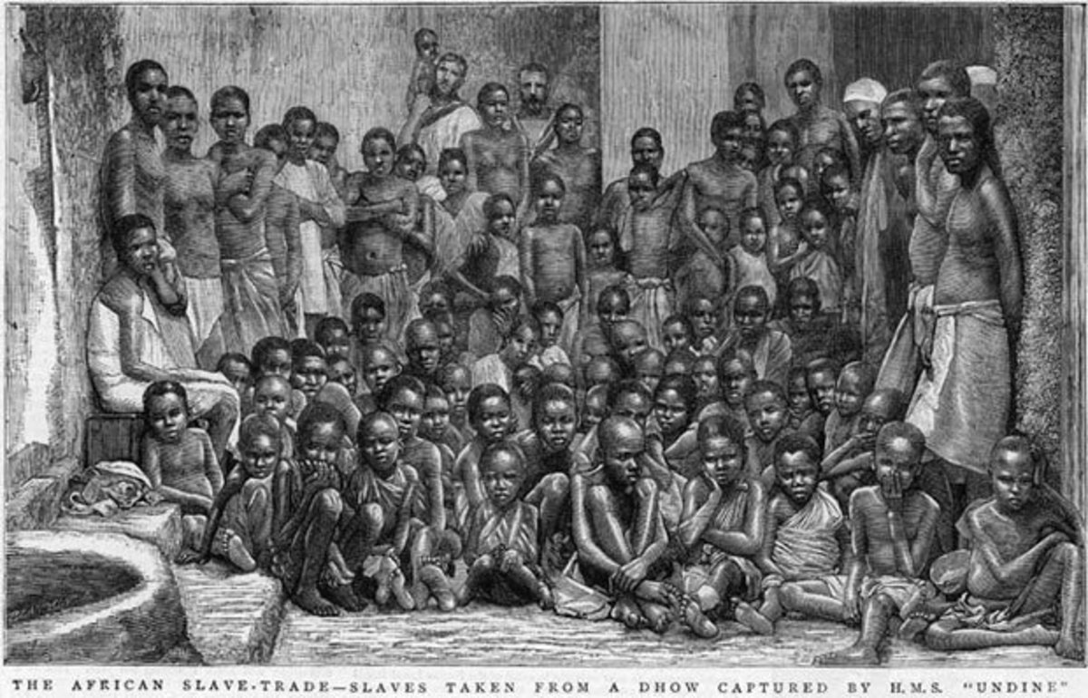Captured Afraicans Liberated from a Slaving Vessel, East Africa, 1884