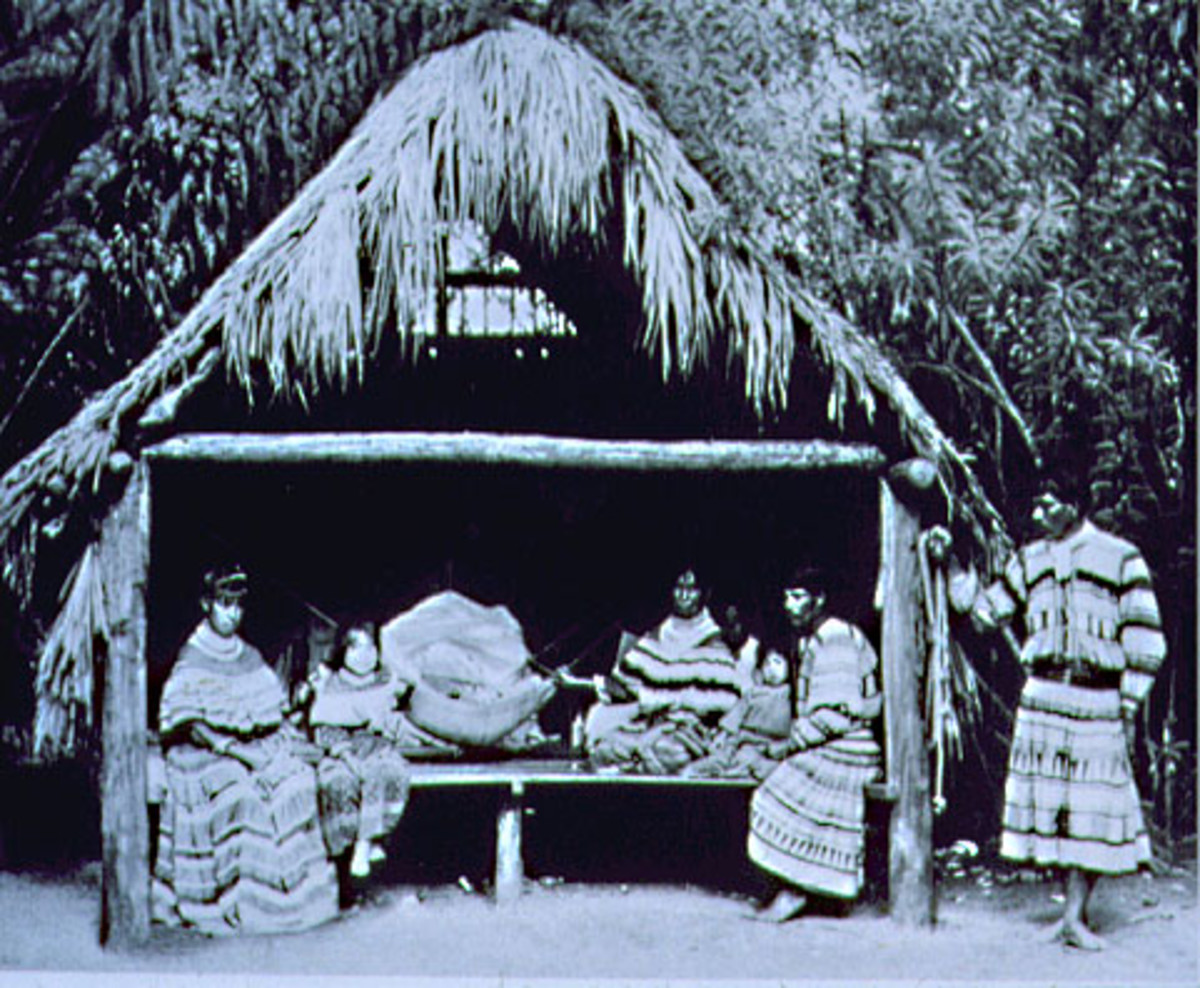 A chickee dwelling enjoyed by several Seminole people.