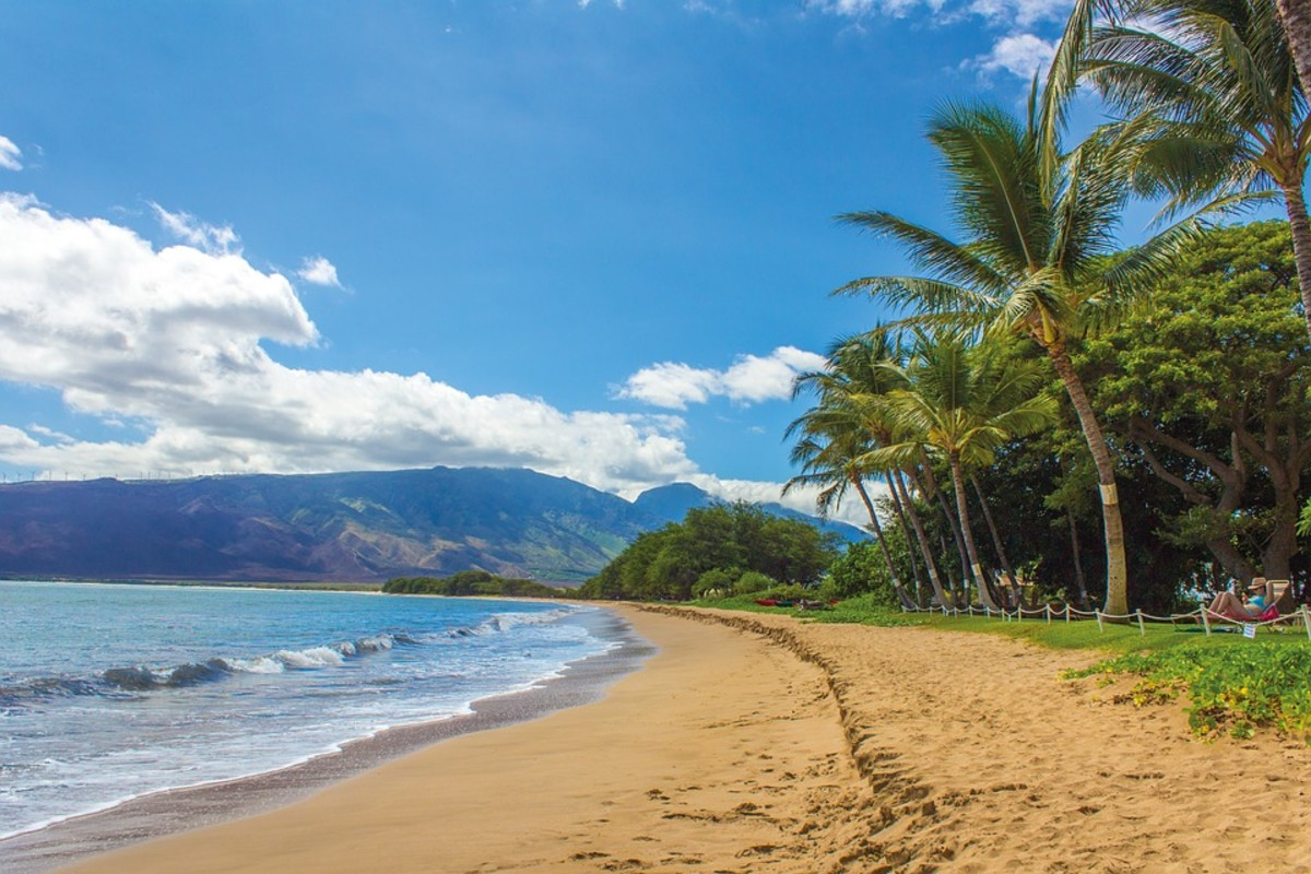 Beautiful beach in Maui