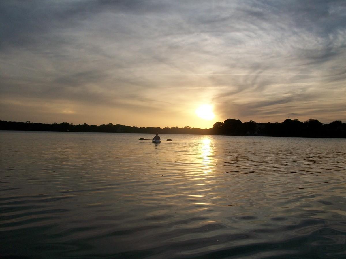 Sunset on Lake Virgina