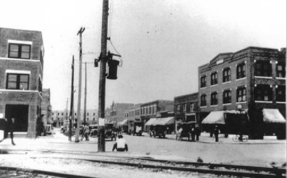 Tulsa Landmarks: Greenwood Historical District as it was in the early 1900s.