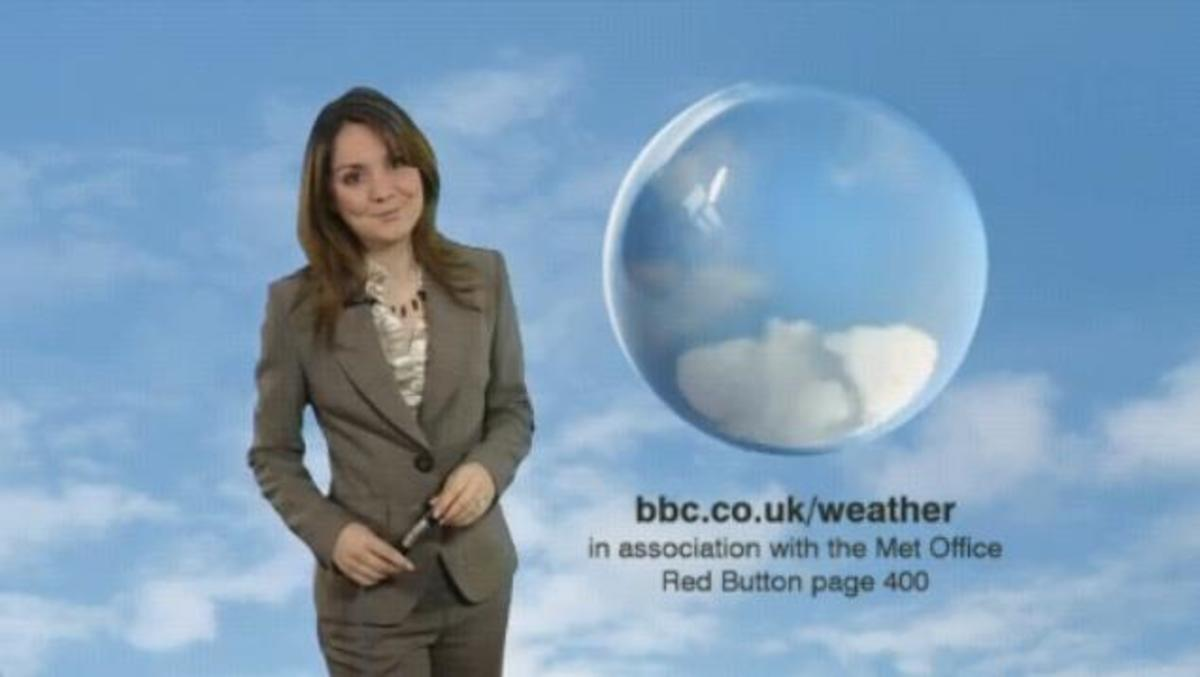 Laura Tobin the bbc weather girl in a very sexy suit