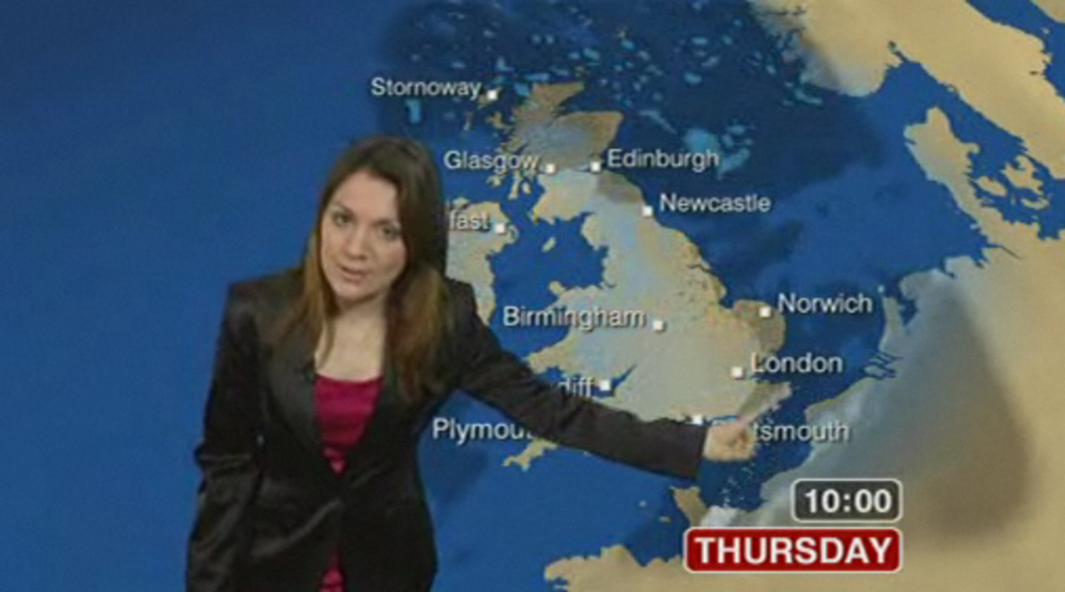 Laura Tobin works for the BBC as a  weather girl