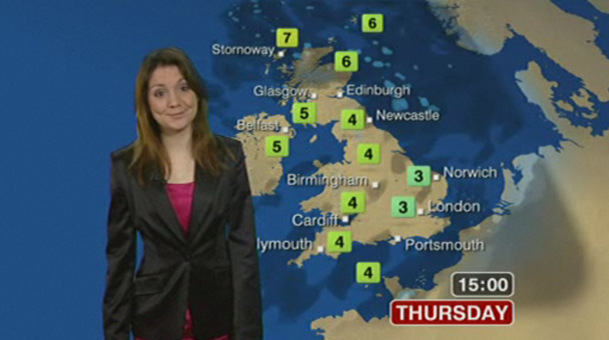 Laura Tobin the gorgeous BBC weather girl
