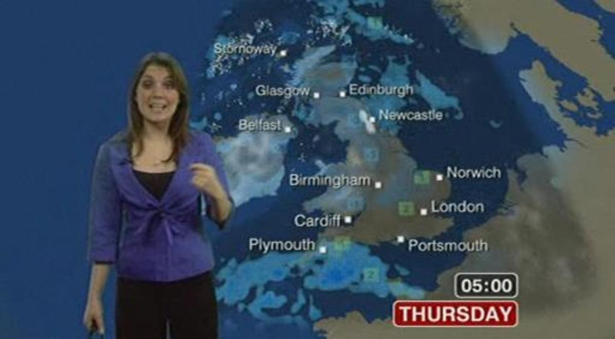 BBC weather girl Laura Tobin looking scrumptious